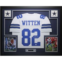 Jason Witten Signed Dallas Cowboys 35x43 Custom Framed Jersey (JSA COA)