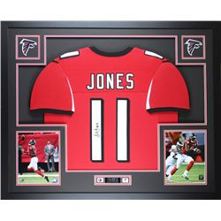 Julio Jones Signed Atlanta Falcons 35x43 Custom Framed Jersey (JSA COA)
