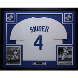 Duke Snider Signed Los Angeles Dodgers 35x43 Custom Framed Jersey (PSA COA)