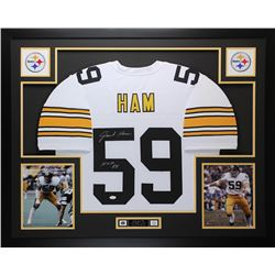 "Jack Ham Signed Pittsburgh Steelers 35x43 Custom Framed Jersey Inscribed ""HOF 88"" (JSA COA)"