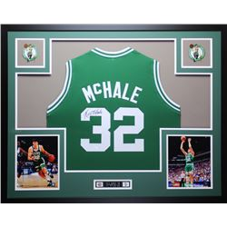 Kevin McHale Signed Boston Celtics 35x43 Custom Framed Jersey (JSA COA)