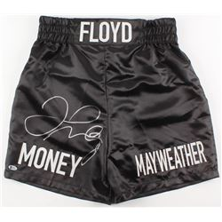 "Floyd Mayweather Jr. Signed ""Money Mayweather"" Boxing Trunks (Beckett COA)"
