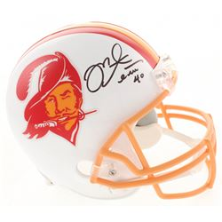 Mike Alstott Signed Tampa Bay Buccaneers Full-Size Throwback Helmet (Radtke COA)