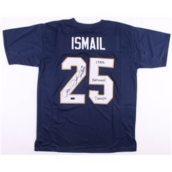 "Raghib ""Rocket"" Ismail Signed Notre Dame Fighting Irish Jersey Inscribed ""1988 National Champs"" (Rad"