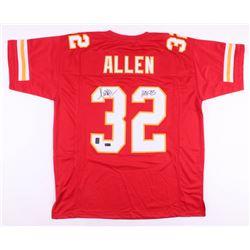 """Marcus Allen Sighed Kansas City Chiefs Jersey Inscribed """"HOF 03"""" (Radtke COA  Allen Hologram)"""
