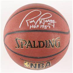 "Rick Barry Signed NBA Basketball Inscribed ""HOF 1987"" (Schwartz COA)"