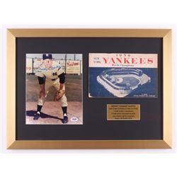 Mickey Mantle Signed New York Yankees 16x22 Custom Framed Photo with Program (PSA LOA)
