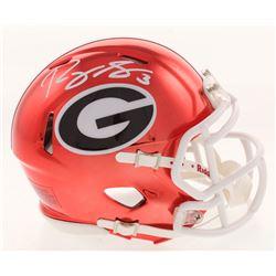 Roquan Smith Signed Georgia Bulldogs Chrome Speed Mini Helmet (Radtke COA)