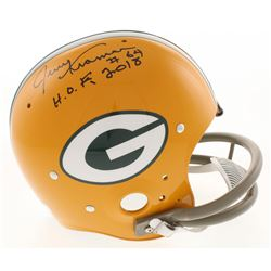 """Jerry Kramer Signed Green Bay Packers Full-Size Throwback Suspension Helmet Inscribed """"H.O.F. 2018"""""""