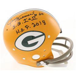 "Jerry Kramer Signed Green Bay Packers Full-Size TK Suspension Helmet Inscribed ""S.B. I + II""  ""H.O.F"
