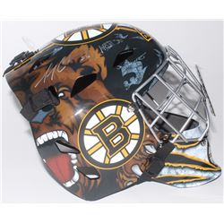 "Gerry Cheevers Signed Boston Bruins Full-Size Goalie Mask Inscribed ""HOF 85"" (Schwartz COA)"