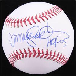 """Ryne Sandberg Signed OML Baseball Inscribed """"HOF 05"""" (Schwartz COA)"""