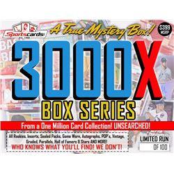 """MYSTERY 3000X SERIES"" A True Sports Card Mystery Box!"