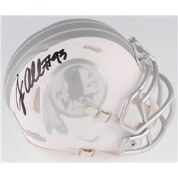Jonathan Allen Signed Washington Redskins White ICE Speed Mini Helmet (Radtke COA)