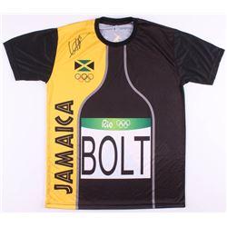 Usain Bolt Signed Rio 2016 Olympics Team Jamaica Jersey (Beckett COA)