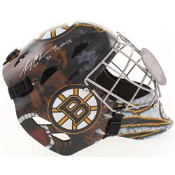 """Gerry Cheevers Signed Boston Bruins Full-Size Goalie Mask Inscribed """"The Mask"""" (Schwartz COA)"""