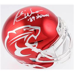 "Andre Ware Signed Houston Cougars Chrome Speed Mini Helmet Inscribed "" '89 Heisman"" (Radtke COA)"