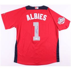 """Ozzie Albies Signed National League All-Star Game Jersey Inscribed """"1st All-Star Game"""" (JSA COA)"""