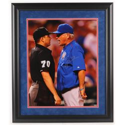 Joe Maddon Signed Chicago Cubs 23x27 Custom Framed Photo Display (Schwartz Sports COA)