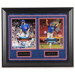 "David Ross  Miguel Montero Signed Chicago Cubs ""Arrieta's No Hitter"" 20x23 Custom Framed Photo Displ"