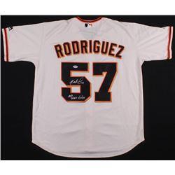 """Dereck Rodriguez Signed San Fransisco Giants Jersey Inscribed """"MLB Debut 5/29/18"""" (PSA COA)"""