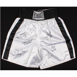 """Heavyweight Champions Everlast Boxing Trunks Signed by (7) with James """"Buster"""" Douglas, Ray Mercer,"""