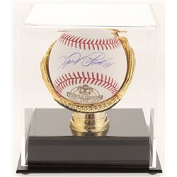 Miguel Cabrera Signed 2012 Triple Crown OML Baseball with Gold Glove Display Case (JSA COA)