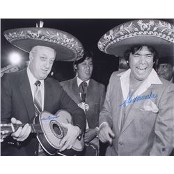 Tommy Lasorda  Fernando Valenzuela Signed Los Angeles Dodgers 16x20 Photo (AIV COA)