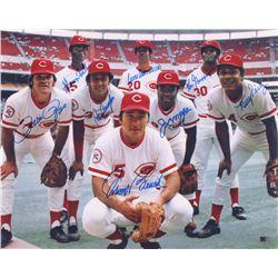 "Cincinnati Reds ""Big Red Machine"" 16x20 Photo Signed by (8) With Pete Rose, Joe Morgan, Tony Perez,"