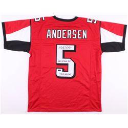 "Morten Andersen Signed Atlanta Falcons Jersey Inscribed ""Hall of Fame 2017""  ""382 Games"" (Radtke Hol"