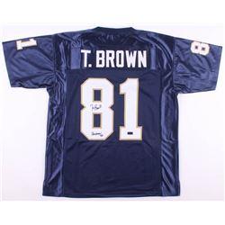 "Tim Brown Signed Notre Dame Fighting Irish Jersey Inscribed ""Heisman 87"" (Radtke COA)"