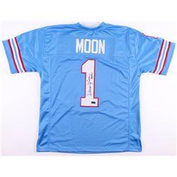 """Warren Moon Signed Houston Oilers Jersey Inscribed """"HOF 06"""" (Radtke COA)"""