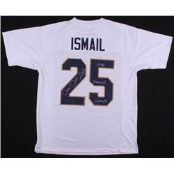 """Raghib """"Rocket"""" Ismail Signed Notre Dame Fighting Irish Jersey Inscribed """"1988 National Champs"""" (Rad"""