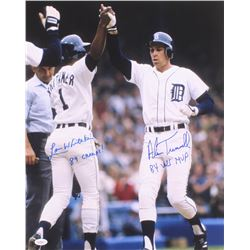 """Alan Trammell  Lou Whitaker Signed Detroit Tigers 16x20 Photo Inscribed """"84 Champs!""""  """"84 WS MVP"""" (J"""