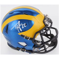 Ty Law Signed Michigan Wolverines Chrome Speed Mini Helmet (Radtke COA)