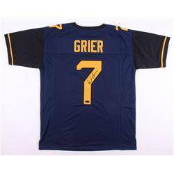 Will Grier Signed West Virginia Mountaineers Jersey (Radtke COA)