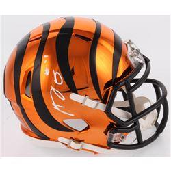 A. J. Green Signed Cincinnati Bengals Chrome Speed Mini Helmet (Radtke COA)