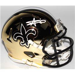 Alvin Kamara Signed New Orleans Saints Chrome Speed Mini Helmet (Radtke COA)