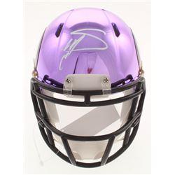 Stefon Diggs Signed Minnesota Vikings Chrome Mini Speed Helmet (Radtke COA)