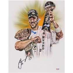 Aaron Rodgers Signed Green Bay Packers 11x14 Photo (PSA COA)