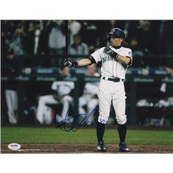 Ichiro Suzuki Signed Seattle Mariners 11x14 Photo (PSA COA)