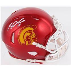 Sam Darnold Signed USC Trojans Chrome Speed Mini Helmet (Radtke COA)