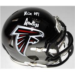 "Austin Hooper Signed Atlanta Falcons Chrome Speed Mini Helmet Inscribed ""Rise Up!"" (Radtke COA)"