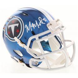 Marcus Mariota Signed Tennessee Titans Chrome Speed Mini-Helmet (Radtke COA)