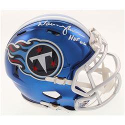 "Warren Moon Signed Tennessee Titans Chrome Speed Mini Helmet Inscribed ""HOF 06"" (Radtke COA)"