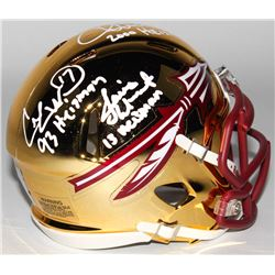 Chris Weinke, Charlie Ward,  Jameis Winston Signed Florida State Seminoles Chrome Speed Mini Helmet