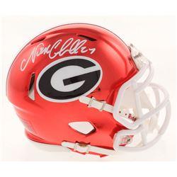Nick Chubb Signed Georgia Bulldogs Chrome Speed Mini Helmet (Radtke COA)