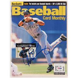 Alex Rodriguez Signed 2000 Beckett Baseball Card Monthly Magazine (PSA COA)