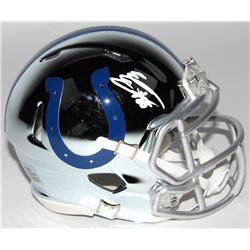 Eric Ebron Signed Indianapolis Colts Chrome Speed Mini Helmet (Radtke COA)