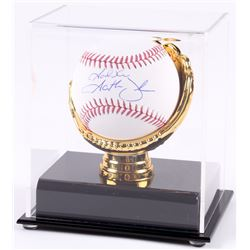 "Garth Brooks Signed OML Baseball Inscribed ""God Bless"" with Gold Glove Display Case (Beckett COA)"